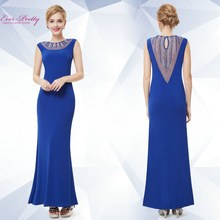 Women's Sexy Blue Long Prom Party Evening Cocktail Dress