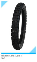 motorcycle tire 2.50-17, 2.75-17, 2.75-18 pattern code 1045