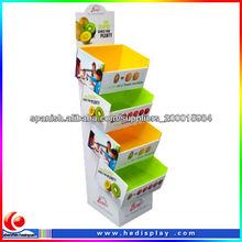 exhibición de la plataforma de papel cartón para frutas