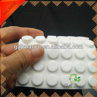 white rubber stool feet for floor protection