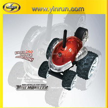 mini-monster spinning car toy kid car 27&40&49MHz rc stunt car toy with charger and battery