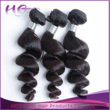 HotCool hair factory tangle free no shedding hair machine to make hair extensions