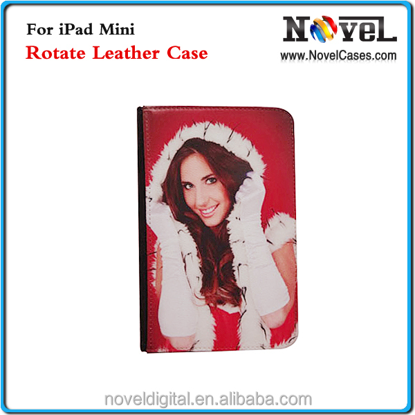 2014 New sublimation Leather Case For iPad Mini, leahter cell phone case for iPad Mini
