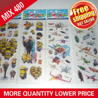 HongKai Wholesales 7*17cm puffy stickers