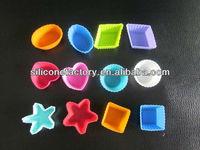 Muti-shaped durable & reusable silicone cupcake mold