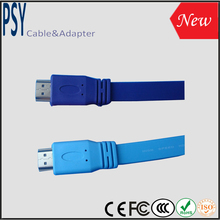 V1.4 Flat HDMI A type to A type Cable HDMI to HMDI support 3D and Full 1080p