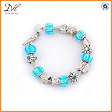 BC1361 Murano glass beads bracelet, bead charm bracelet