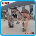 Disfraz de dinosaurio artificial de simulación para parque de diversiones a la venta