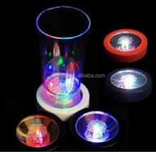 Color Changing LED Light Drink Glass Bottle Cup Mug Coaster Mat Club Party Bar