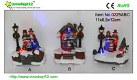 Holiday decoration resin figurine, light up choir robes with lamp
