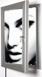 slim outdoor led lockable custom aluminum light box