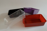Microwave Safe 650ml Rectangular Disposable Plastic Food Containers