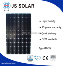 Factory Price OEM High Quality Portable 245w pv solar panel