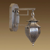 Morocco style polish brass outdoor wall lamp lighting