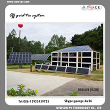 Roof off grid tie connect solar pv system for 3 kilo watt with easy installation