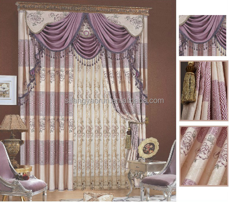 bedroom drapes with valance 1