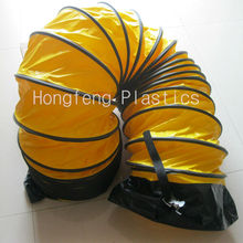 fire resistant and insulated blower flexible air duct with iron buckle made in china
