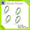 Promotional fabric textile Silicone Slap Bracelet silicone wristbands