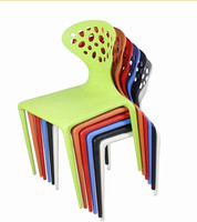 Outdoor waterproof lounge commercial furniture stackable plastic chair