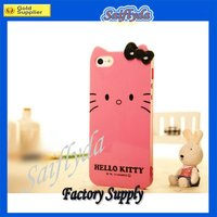 Lovely Hello Kitty pattern design silicon case for iphone 5