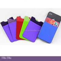 Colorful and Waterproof 3m sticker silicone smartphone wallet and case