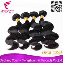 FANOV factory wavy top quality grade 7a brazilian remy unprocessed virgin hair