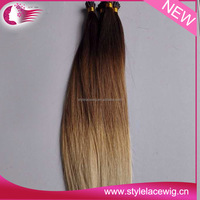 Best Quality Italian keratin fusion tip ombre i tip hair extension for cheap