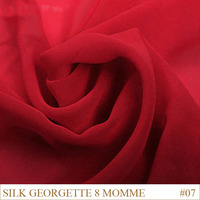 Silk Georgette Fabric 8momme 114cm Width 100% Mulberry Silk wedding dress Fabric Manufacturers