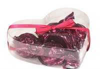 heart shaped lovely sweet clear pvc box