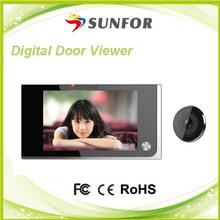 Sunfor 2015 new design High Definition digital door peephole viewer