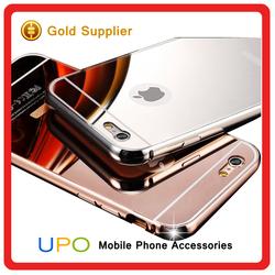 [UPO] 24k Golden Back metal aluminium Bumper Mirror cellphone case For iPhone 6