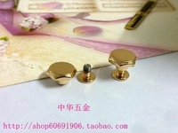 DIY luggage leather handbags bags hardware accessories surface diameter of 1.1cm light gold