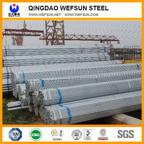 construction material galvanized steel pipe
