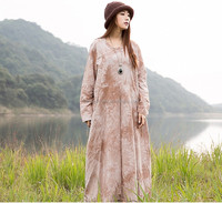 Spring Leisure Casual 100% Cotton Maxi Long Dress Gown for Wome/ladies summer new arnsrival charming dress factory