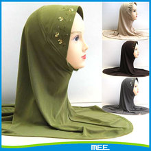 plain embroidery lycra tudung wholesale