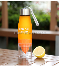 plastic lemon bottle fruit infusion water bottle for health care bottle