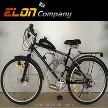 Steel frame 50cc 2 stroke air-cooled electric petrol bike(E-GS203 black)
