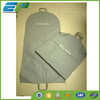 Folding grey non-woven mens suit cover with two handles