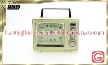 New products zinc alloy Retro Radio alarm colorful Clock