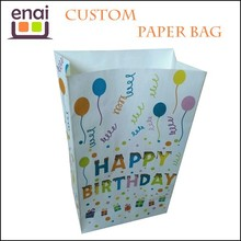 Foldable available luxury custom art paper bag with birthday gift package