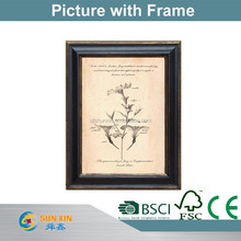 antique wall old picture with frame and photo frame