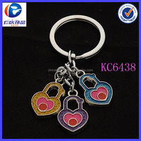 China wholesale personalized locks of love keychain