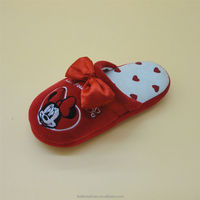 soft fabric lovely pattern mickey cartoon baby shoe ornament