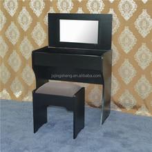 Wood furniture modern design black wood dresser with storage