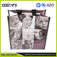 reusable popular pp woven laminated custom garment shopping/tote/used bag