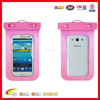 Pink PVC diving bag for iphone 6 cell phone waterproof bag, waterproof cell phone bag wholesale