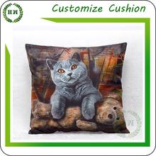 Wholesale short plush sofa seat cushion case pillow cover / custom printing cushion covers