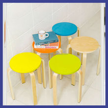 very beautiful color birch bentwood stool on waiting room