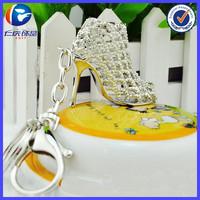 Noble Fashion Diamond High Heel Shoes Key Ring Keychain