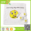 terry pigment printing square shape pressed towels